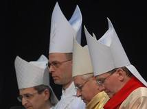 Biskupi, kňazi, cirkev, kostol, modlitba, viera, kresťania
