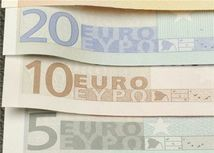 Euro, bankovky, peniaze, 5, 10, 20