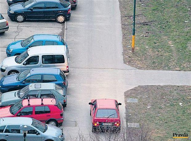 autá, parkovanie