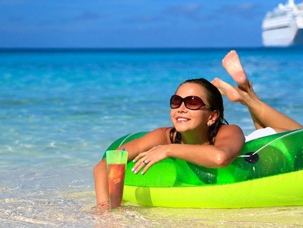 dovolenka, pláž, more, voda, oddych, leto, koleso, relax, cestovanie