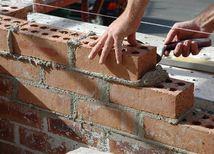 tehla, murár, stavebníctvo, malta, stavba