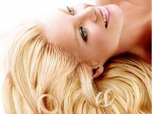 blondínka, blond, vlasy, úsmev, relax, žena