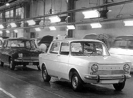 Simca 1000 chádzala z výrobnej linky od roku 1961.