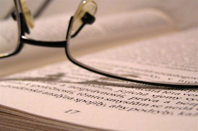 kniha, učebnica, okuliare, študent, spisovateľ, vedec