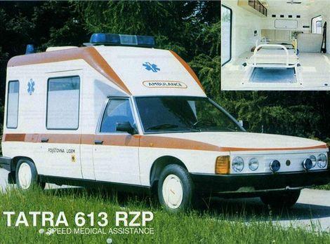 Vedľa Š 1203pôsobila Tatra 613 RZP ako zjavenie.