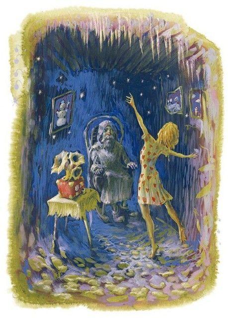 Ilustrácia: Peter Uchnár, z knihy Štyria škriatkovia a víla, Perfekt