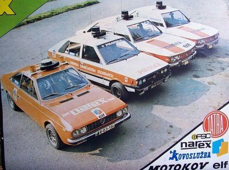 Narex mal Lanciu Beta, Polonez 1600 a dve Tatry 623.