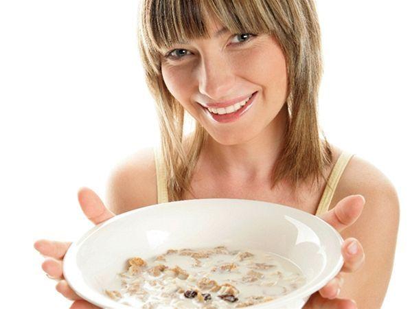 jedlo, strava, vláknina, orechy, zrniečka, celozrnný, cereálie, raňajky