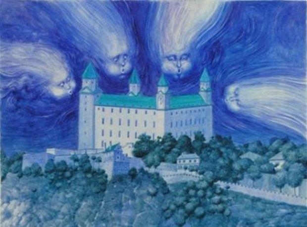 Albín Brunovský, ilustrácia z Modrej knihy rozprávok, 1974 (výrez)