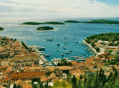 Ostrov Hvar v Chorvtsku.