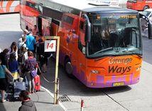 autobus, nástupište, cestovanie