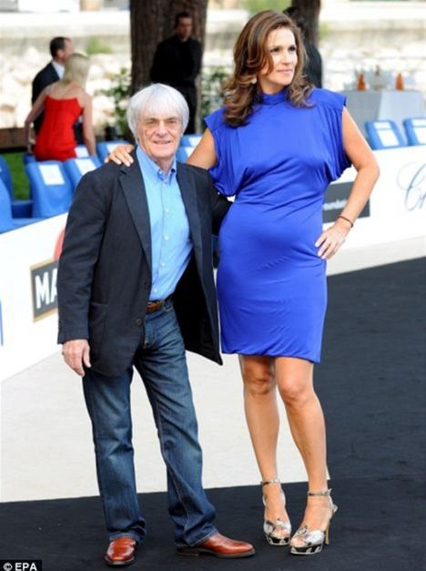Bernie Ecclestone a jeho exmanželka Slavica.