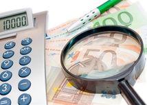 peniaze, dane, odvody, daň, bankovky, euro, kalkulačka