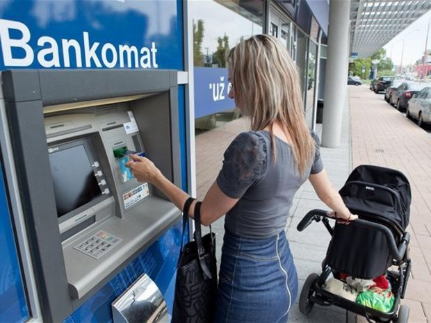 bankomat, výber, kreditka, karta, banka, účet