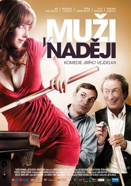 Plagát k filmu Muži v naději so sexi herečkou Evou Kerekesovou.