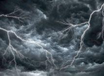 búrka, blesk, počasie