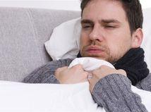 chrípka - liečba - ležať v posteli