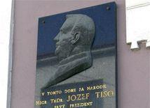 Jozef Tiso, pamätná tabuľa, Bytča