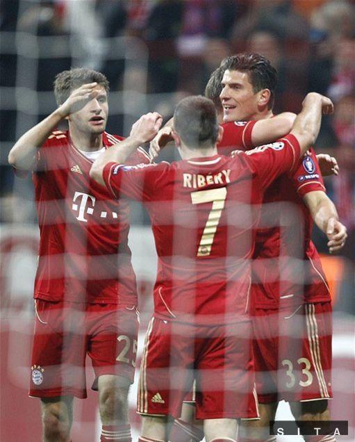 Radosť futbalistov Bayernu.