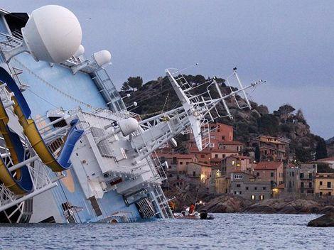 Concordia, potopená loď, Itálie