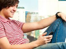 mobil, telefón, sms