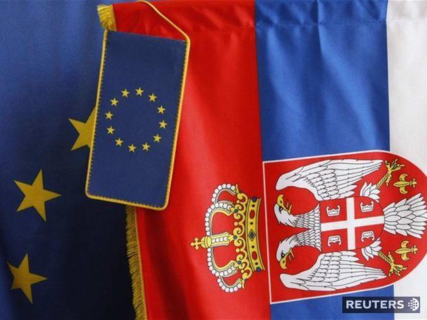 vlajka EÚ, Srbsko