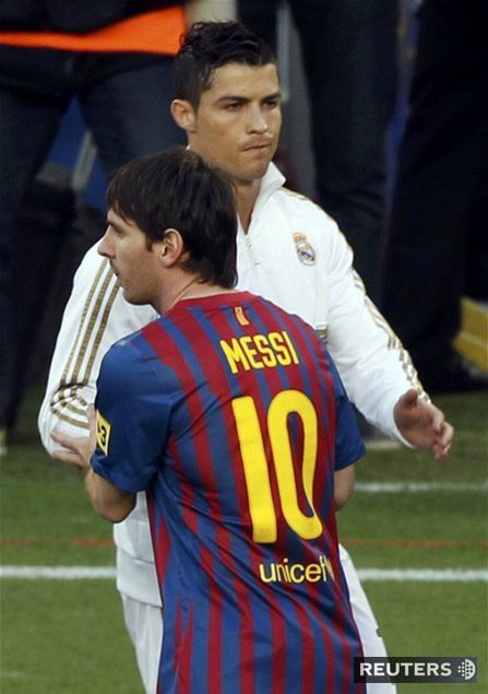Cristiano Ronaldo a Lionel Messi.