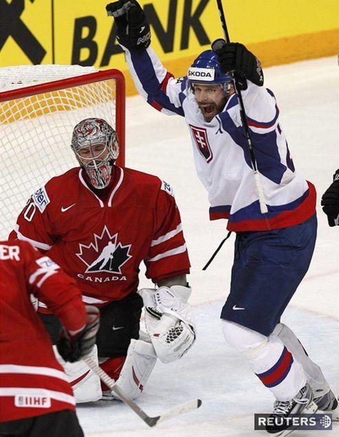 Michal Handzuš sa zaradil medzi lídrov tímu. Gólom na 4:3 proti Kanade poslal Slovensko do semifinále.