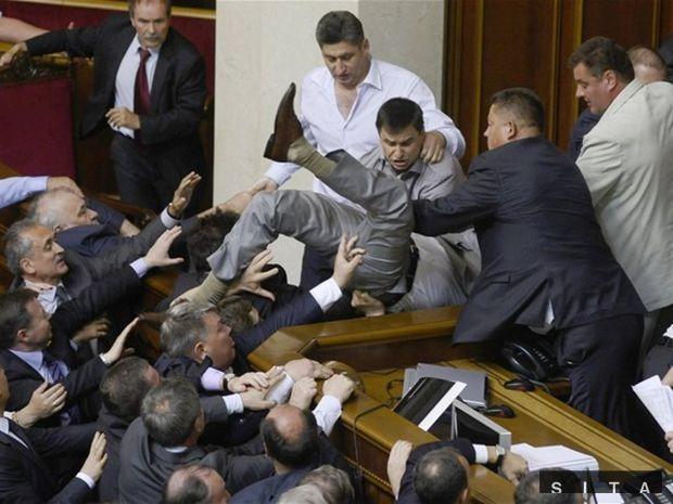 ukrajinský parlament, bitka