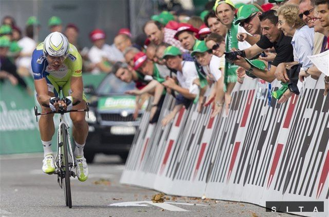 Peter Sagan na trati.