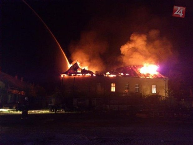 požiar, kaštieľ, Beňadikova