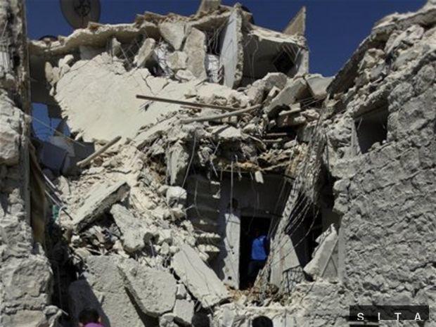sýria, trosky, atentát
