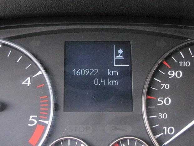 Testované auto malo najazdených už takmer 161 000 km.