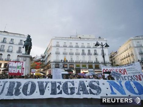 EuroVegas, protest, Madrid