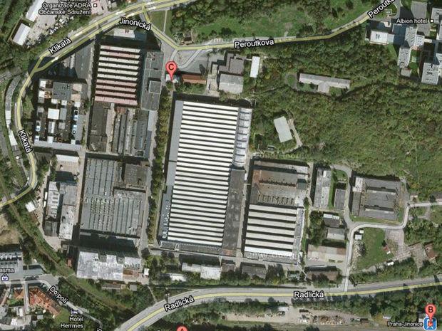 Bývalá továreň Walter v Jinoniciach