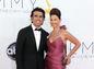 Herečka Ashley Judd (v róbe na zákazku od Caroliny Herrery) s manželom Dariom Franchittim.