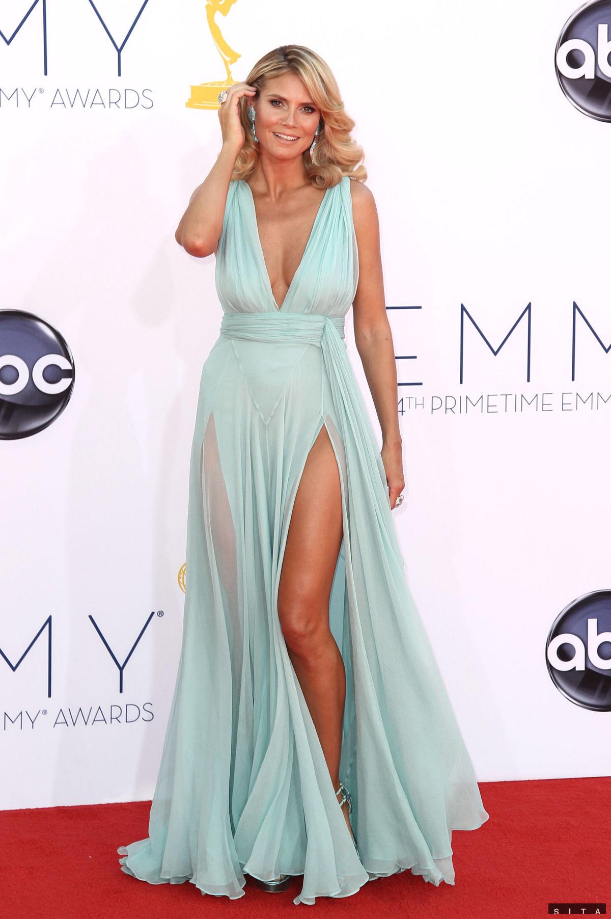 Modelka a moderátorka Heidi Klum prišla v šatách od dizajnéra Alexandra Vauthiera.