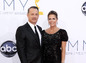 Herec Tom Hanks s manželkou Ritou Wilson.