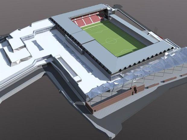 Vizualizácia nového trnaského futbalového štadióna