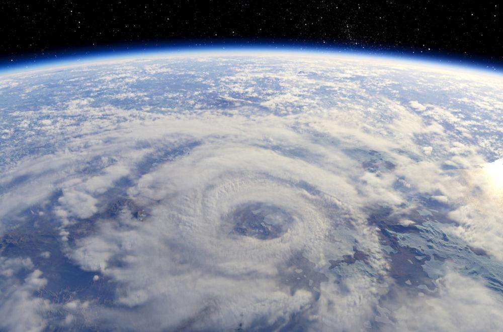 Hurikán - pohľad zo satelitu.