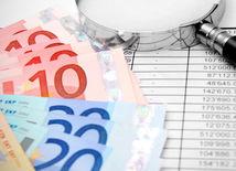 Graf, lupa, čísla, peniaze, ekonomika, euro