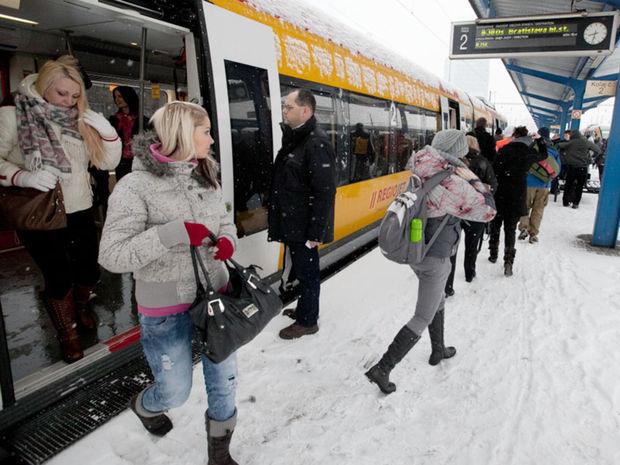 Vlak, počasie, RegioJet, železnice