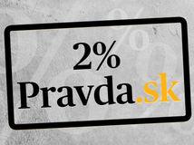 Dve percentá dane na Pravda.sk