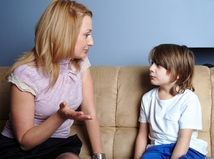 rodina, dieťa, matka, diskusia, bitka