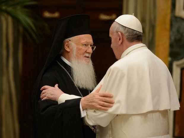 pápež František, patriarcha Bartolomej I.