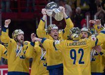 Radosť švédskych hokejistov