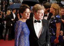 Robert Redford s manželkou Sibylle Szaggarsovou.