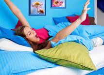 spánok - modrá spálňa - modré steny - oddych