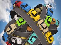 Cesta, cesty, doprava, diaľnica, zápcha, auto, autá