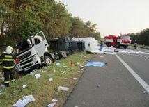 Dopravná nehoda, cisterna, Lozorno, Malacky, D2, diaľnica